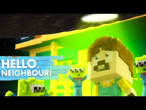 Minecraft Baby Hello Neighbour - THE ALIENS JOIN THE NEIGHBOUR! with TINY TURTLE!