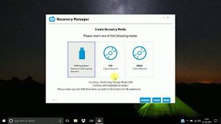 HOW TO CREATE RECOVERY DISK HP WINDOWS LAPTOP