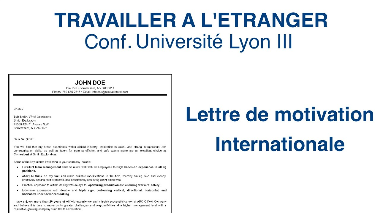 exemple lettre de motivation universite etrangere