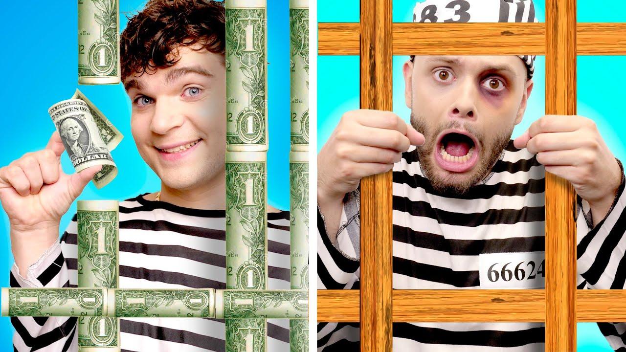Rich Jail vs Broke Jail! Funny Situations & DIY Ideas by GOTCHA!