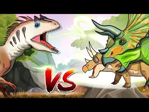 Dinosaurs Battle | Triceratops VS Allosaurus