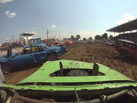 demolition derby gopro stock feature 2015 boone county fair