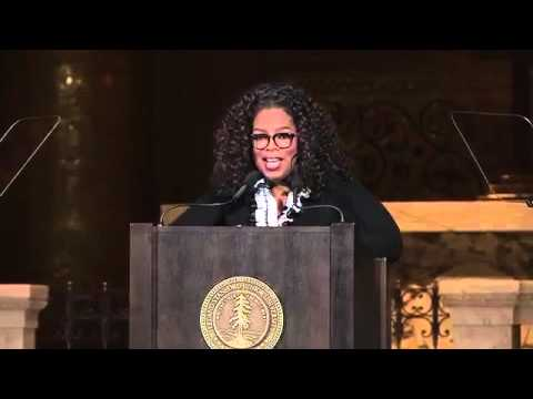 Oprah Winfrey with a meaning life with the Stanford community as the Rathbun Visiting Fellow
