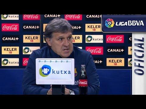 Rueda de Prensa de Tata Martino tras el Real Sociedad (3-1) FC Barcelona - HD
