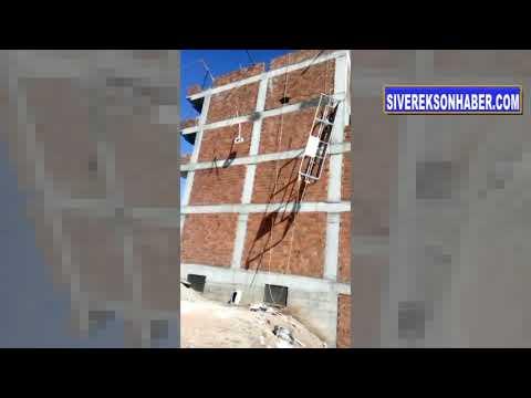 İşçiler inşaattan düştü 1 ölü, 1...