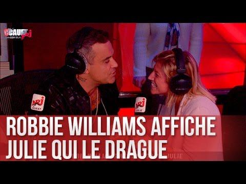 Julie drague Robbie Williams mais s'affiche - C'Cauet sur NRJ