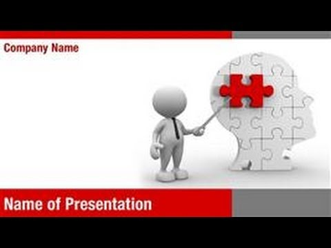 Human Brain Research Powerpoint Template Backgrounds