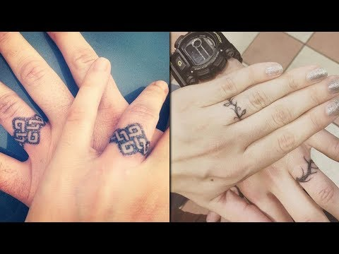 Creative Tattoo Design Ideas for Ring Finger for Couples || Ring Tattoo for Women and Men