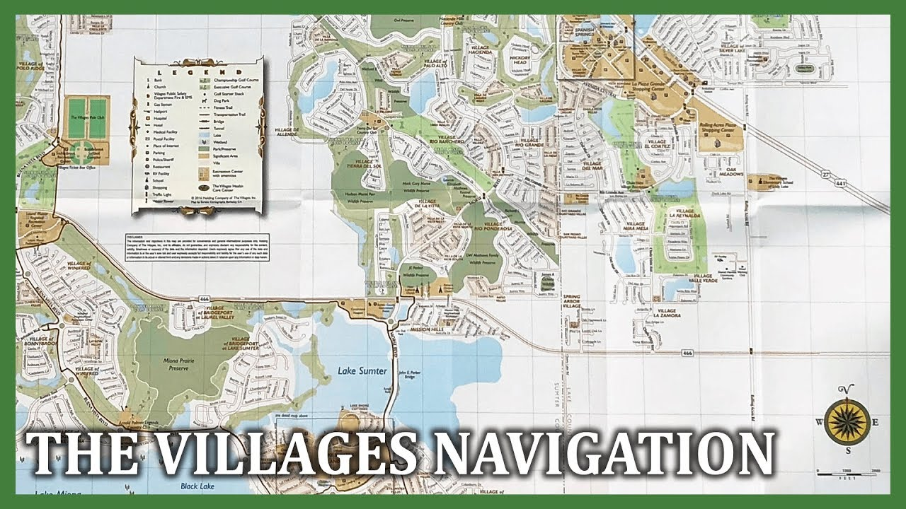 Map Of The Villages D Village Map on
