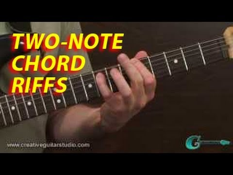 RHYTHM GUITAR: Two-Note Chord Pattern Riffs