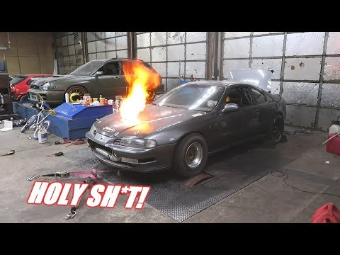 1000Hp Prelude Hits The Dyno!