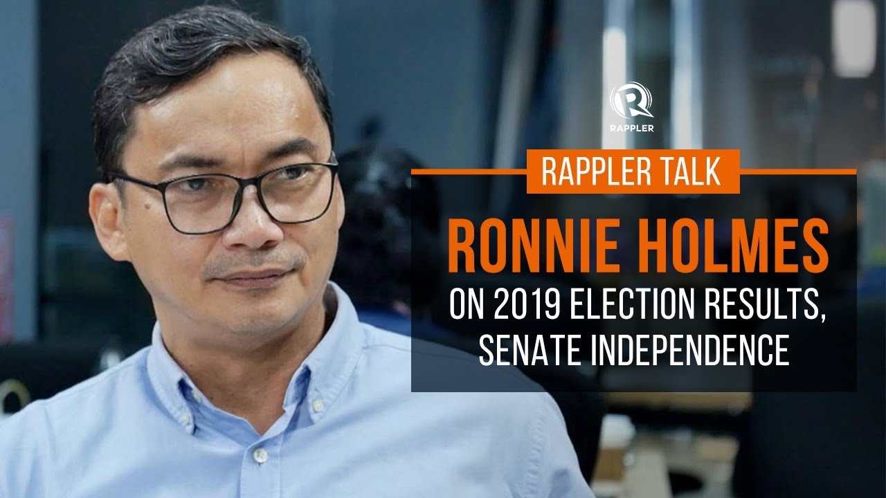 rappler talk ronnie holmes on 2019 election results senate independence