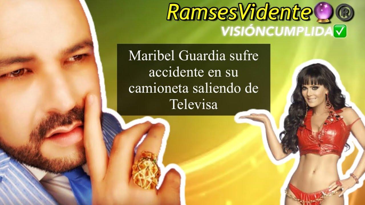 Maribel Guardia sufre accidente en su camioneta saliendo de Televisa