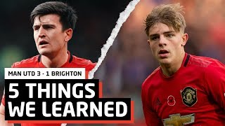 5 Things We Learned vs Brighton | MUFC 3-1 BHA