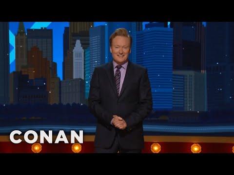 #ConanNYC Monologue 11/09/17  - CONAN on TBS