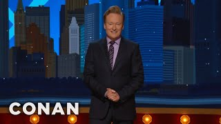 #ConanNYC Monologue 11/09/17  - CONAN on TBS