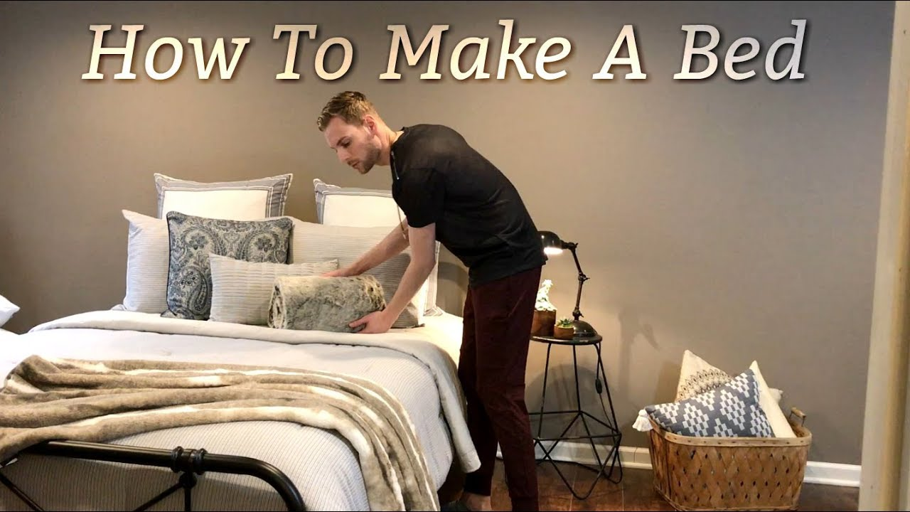 How To Make A Bed   Decorative Bedding   Farmhouse Style   Bedding Ideas