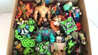 Box Full of Toys Ben 10 Season 3 Toys Action Figures Alien Projection Omnitrix New Toys Minecraft