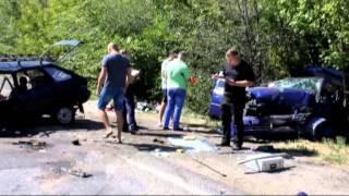 В Запорожской области произошло смертельное ДТП.(http://magnolia-tv.com/ Лобовое столкновение на трассе в Запорожской области унесло жизни двух человек. Еще трое..., 2015-09-01T16:24:56.000Z)