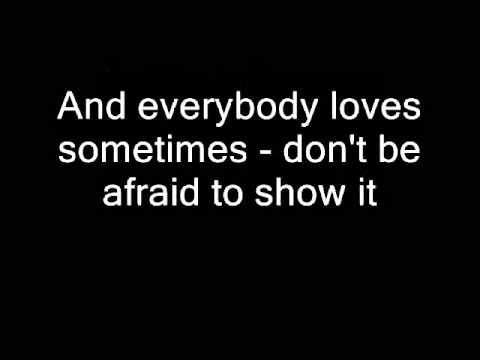 Roger Taylor - Everybody Hurts Sometime (Lyrics)