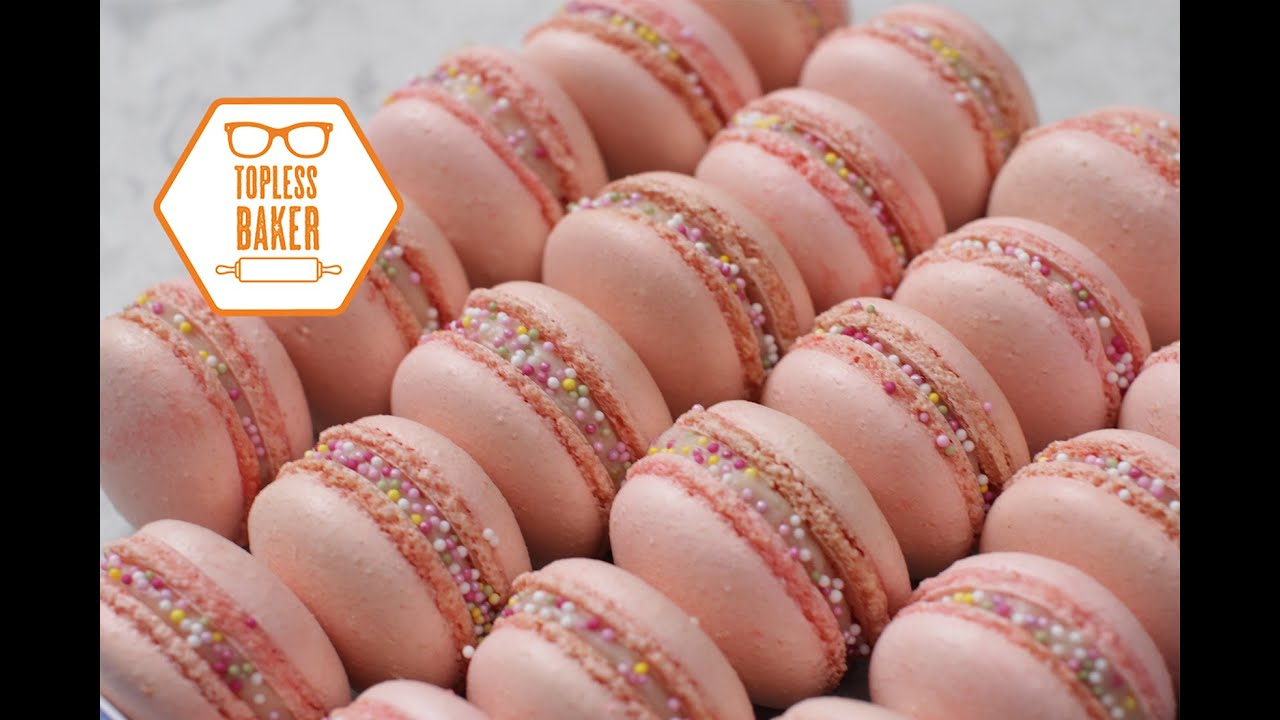 Strawberry Macaron Recipe Topless Baker Youtube