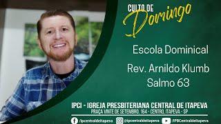 Escola Dominical - Salmo 63