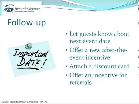 Aesthetic Business - Planning a Successful Event Part 17 - Post-Event Follow-Up
