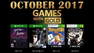 Xbox Live Games With Gold October 2017