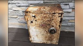 Man Finds Unusual Rusted Box In Backyard, Unraveling A Mysterious String Of Events