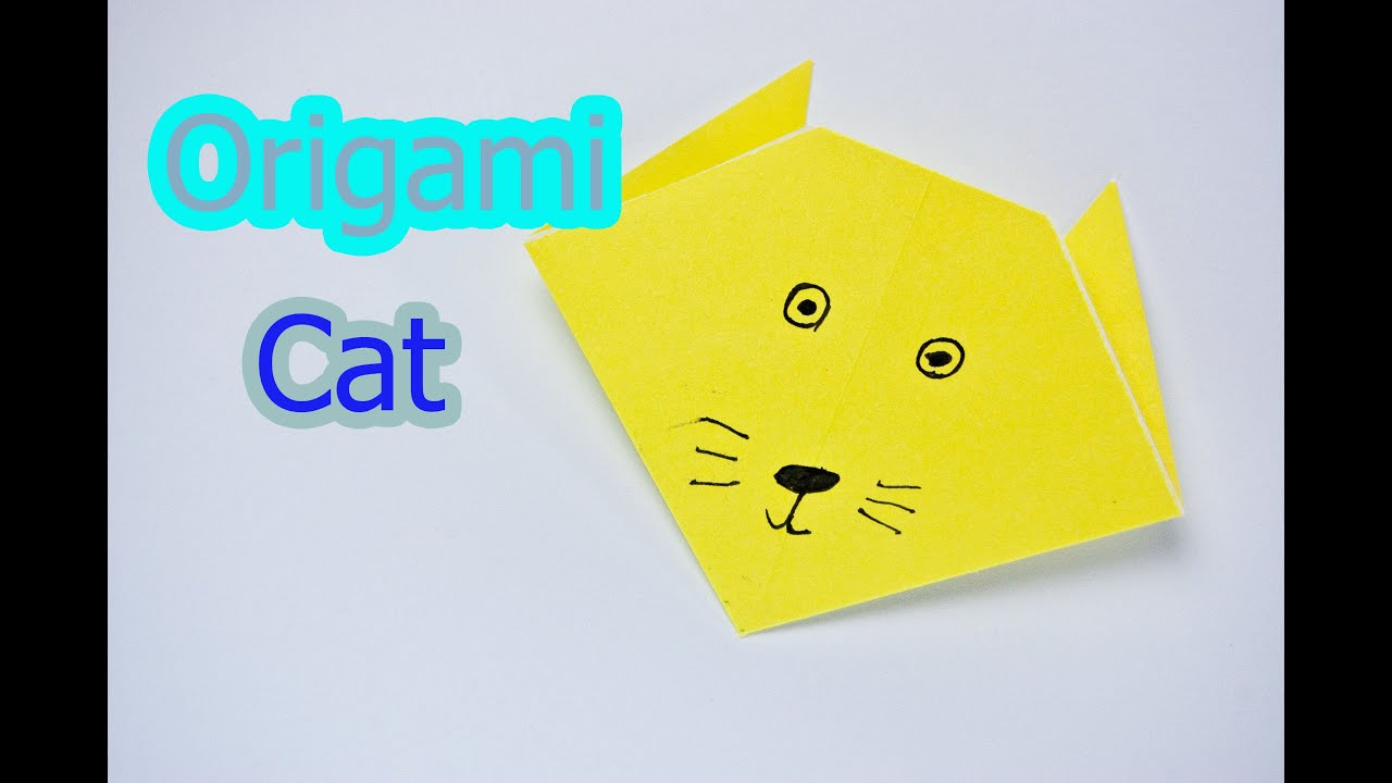 how to make an origami cat face youtube