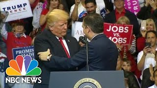Watch President Donald Trump And Ted Cruz Move From Bitter Rivals To BFF's | NBC News