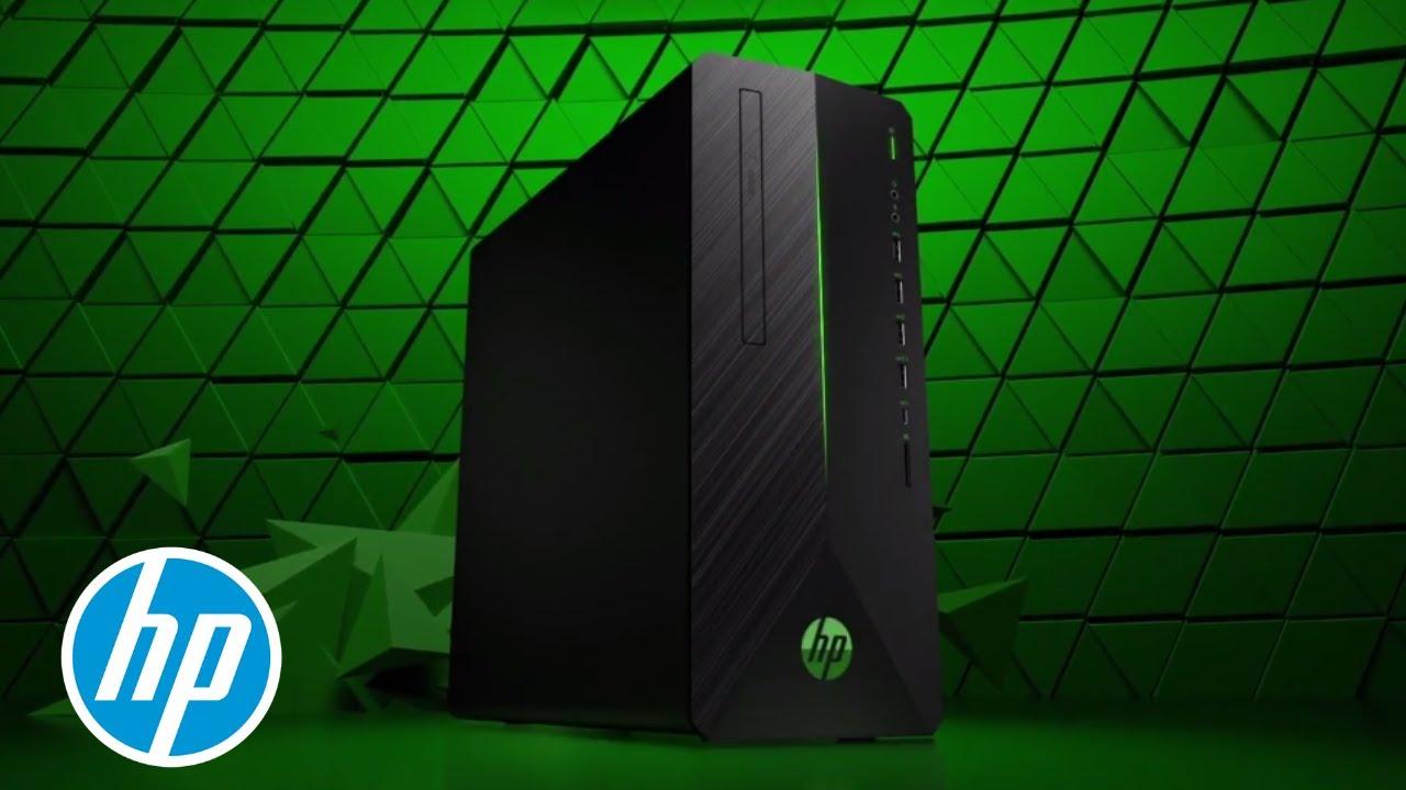 packs serious power hp pavilion gaming desktop hp youtube. Black Bedroom Furniture Sets. Home Design Ideas