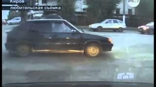 В Кирове устроили боксерский поединок на проезжей части