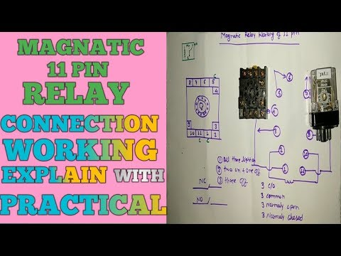 11 pin relay working and connection - youtube  youtube