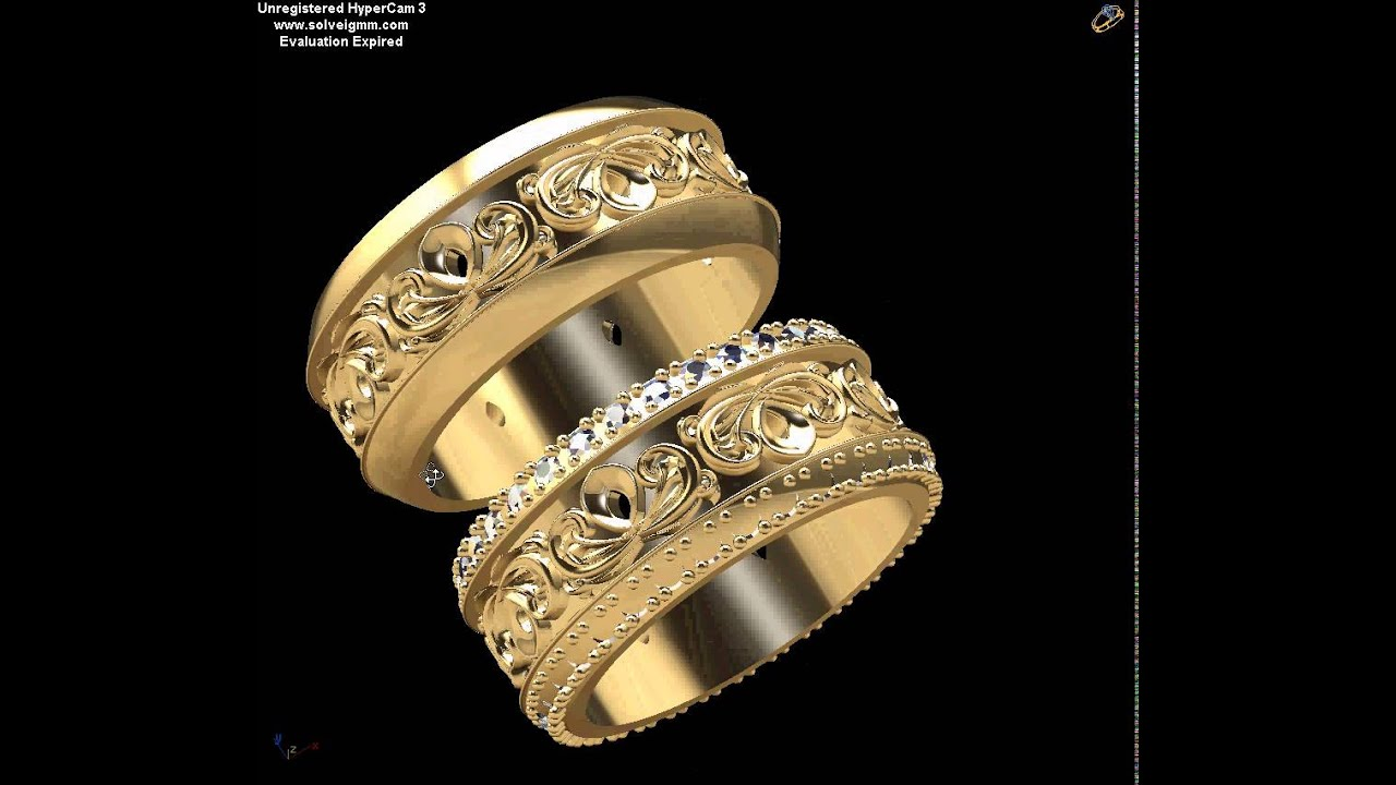 Кольца обручальные 3д фото