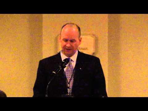 Greg Schleppenbach speaks at Omaha Legatus.