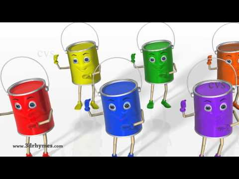 Color Songs  3D Animation Learning Colors Nursery Rhymes for children