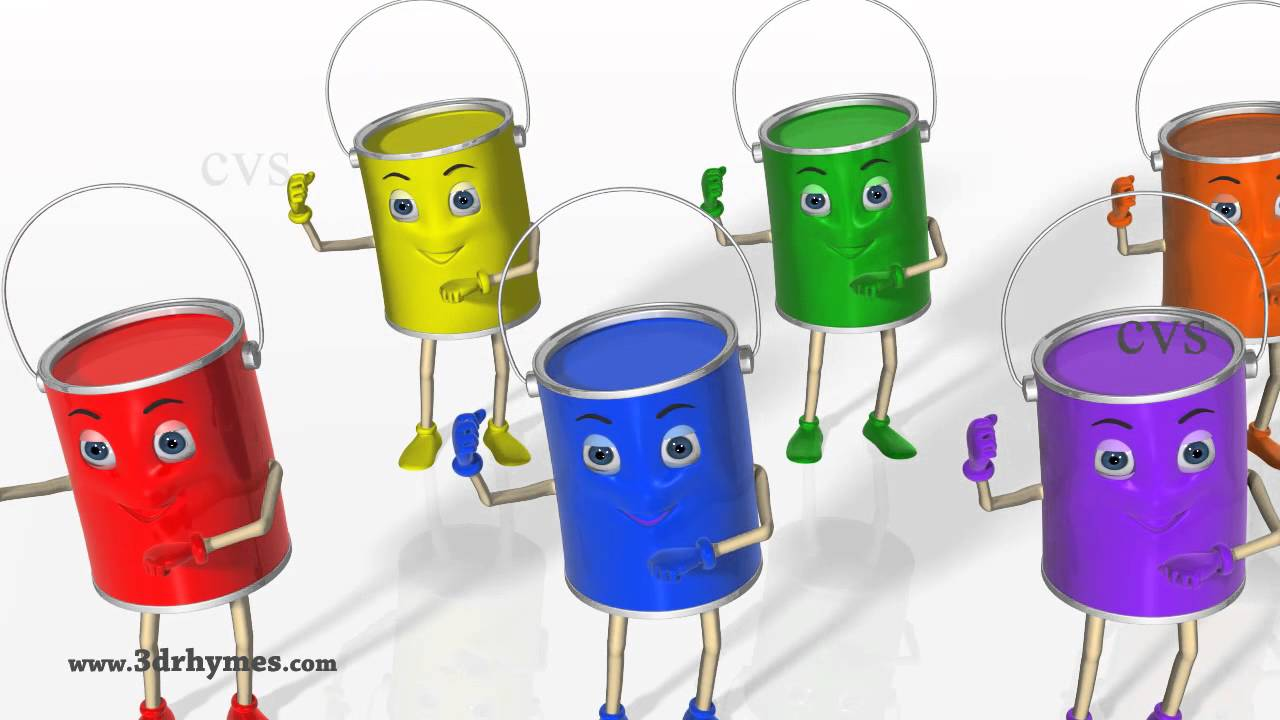 Color Songs - 3D Animation Learning Colors Nursery Rhymes for ...