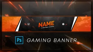 Sleek GAMING BANNER Template | 2020 | FREE PSD | Photoshop