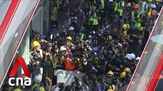Hong Kong protests: Demonstrators try to force their way into Legislative Council