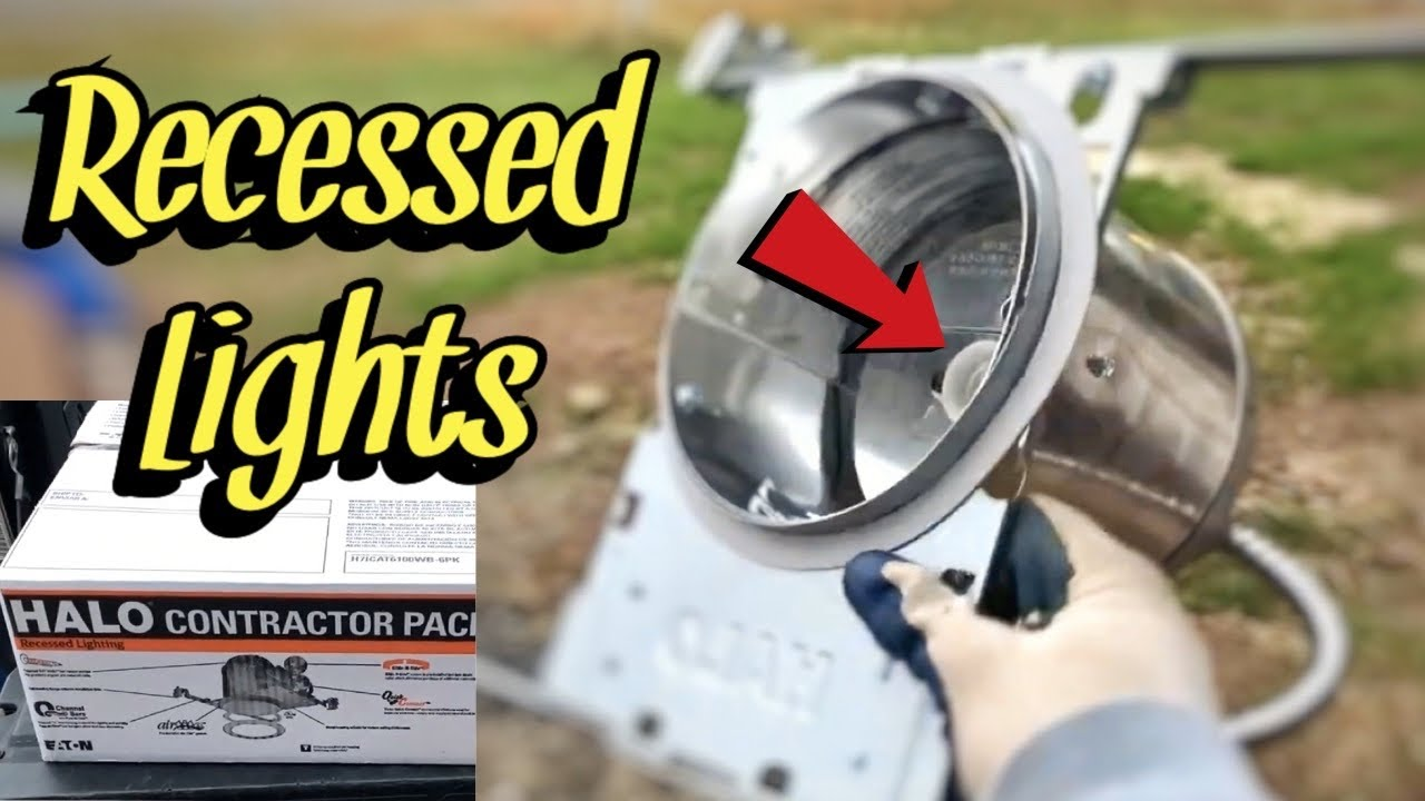 how to install can lights halo recessed lights from lowe s