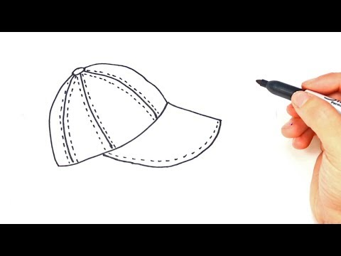 How to draw a Cap Step by Step | Cap Drawing Lesson