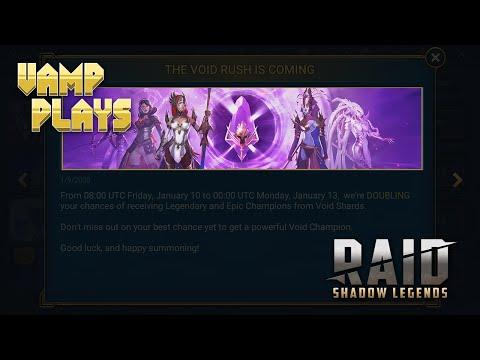 RAID: Shadow Legends | 2x Void Weekend (1/9/20) | Vamp Plays