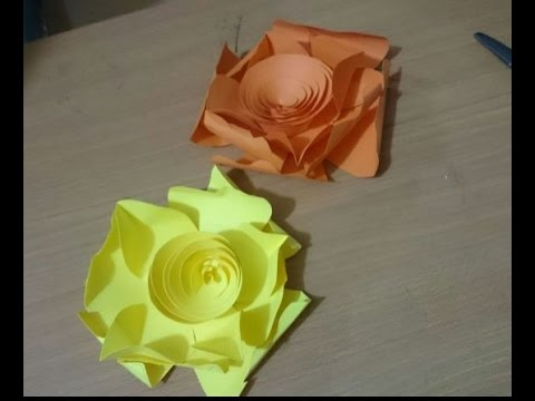 DIY Paper Crafts How To Make 3D Paper Flower Tutorial YouTube