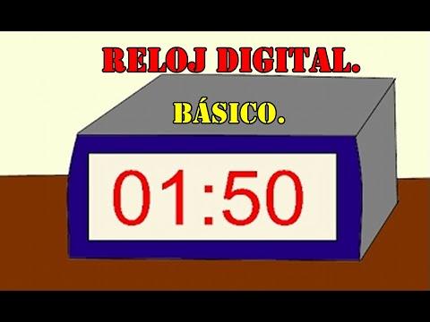 Las horas del reloj digital para ni os b sico youtube - Reloj adhesivo de pared ...