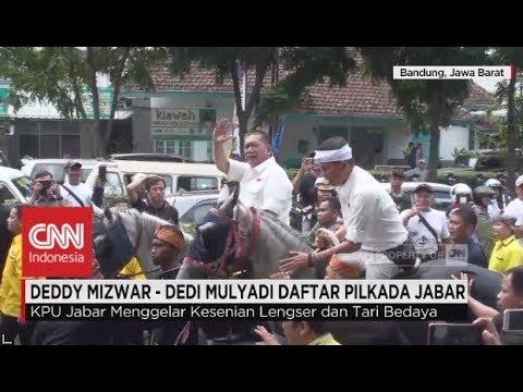 Naik Kuda, Deddy Mizwar-Dedi Mulyadi Daftar ke KPU Jabar