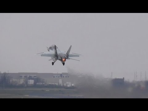 Boeing/SAAB T-X trainer -  Afterburner Takeoff,  On a Roll