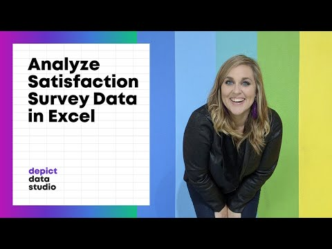 How to analyze satisfaction survey data in Excel