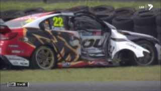 Alex Premat and James Courtney Crash - Phillip Island Race 32.