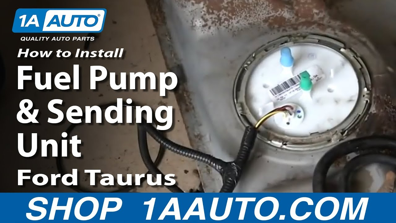 1998 ford contour fuel pump wiring diagram front view human skull unlabeled how to replace sending unit 01 06 taurus youtube